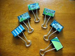 Decorated binder clips it s the little things Mod Podge Rocks