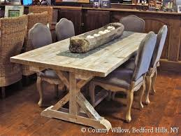country dining room sets country willow furniture 7ft garden trestle table antique pine