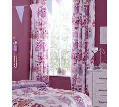 pink girl curtains bedroom buy catherine lansfield owl curtains 168x183cm pink at argos