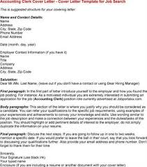 sample cover letter for accounting clerk cover letter accounting