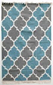 Grey Dhurrie Rug Jali Grey Blue And White Dhurrie Rug Mahout Lifestyle