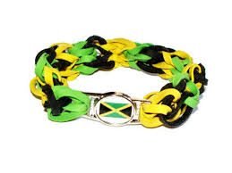 bracelet bands rubber images Jamaican flag stretch bracelet made w by bunglebands on zibbet jpg