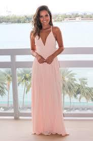 blush maxi dress blush pleated maxi dress with criss cross back maxi dresses