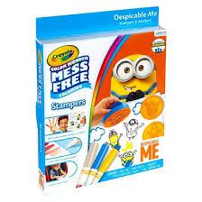 crayola color wonder stamper and marker coloring kit despicable