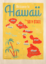 Hawaii Gifts For Travelers images Welcome to hawaii quot custom poster illustration for hawaiian gift png