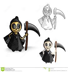 halloween monsters halloween monsters spooky reapers set royalty free stock images