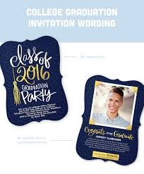 graduation invitation wording guide for 2017 shutterfly