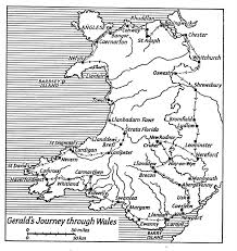 Map Of Wales Map Of Wales In Gerald U0027s Day Gerald Of Wales Pinterest