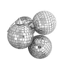 club pack of 16 mirrored glass disco ornaments 4