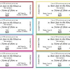 tickets printable event tickets template sample to do list template