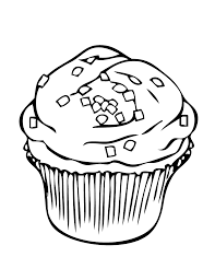 free cupcake coloring page foods coloring pages of
