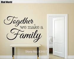 online buy wholesale family quotes wall art from china family mad world together we make a family quote wall art stickers wall decal home diy