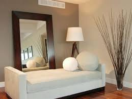 decor interesting frameless mirrors with table lamp plus white