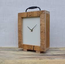 handmade wood clock clock desk clock oak clock modern