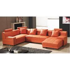 canapé d angle orange canapé d angle capitonné cuir orange méridienne achat vente
