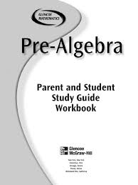 pre algebra glencoe workbok answers on page end equations