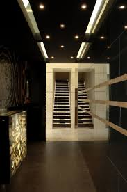 decoration cozy interior design for your basement with track