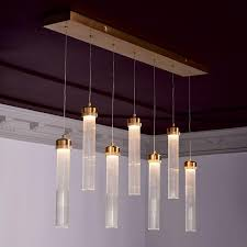 Linear Chandelier With Shade Linear Cylinder Chandelier