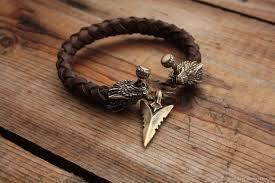 bracelet handmade leather images Leather bracelet dragon shop online on livemaster with jpg