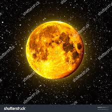 halloween orange full moon stars background stock photo 39601117