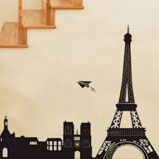 Eiffel Tower Garden Decor Free Shipping Eiffel Tower Wall Stickers Mural Paris Decor Art