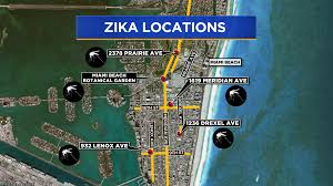 Map Of South Beach Miami by 5 New Non Travel Related Zika Cases In South Florida Cbs Miami