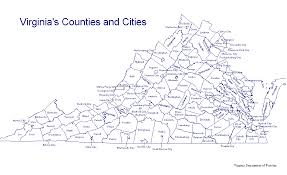 virginia county map with cities ways of living