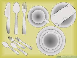 how to set a table with silverware how to set silverware 7 steps with pictures wikihow