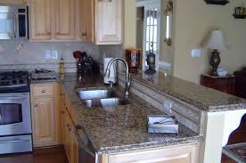 Kitchen Cabinets Premade Granite Countertop Granite Kitchen Countertops With Oak Cabinets