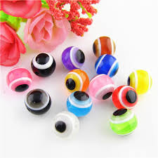 Wholesale Jewelry Making - pick 9 colors 8mm diy loose beads resin acrylic evil eye craft