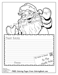 coloring pages free coloring pages santa letter