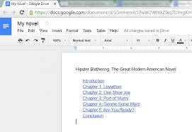 how to add a table of contents in google docs