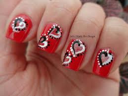 yin yang hearts valentine day nail art design manicure live