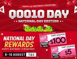 qoo10 last day qoo10 day national day edition 100 off home