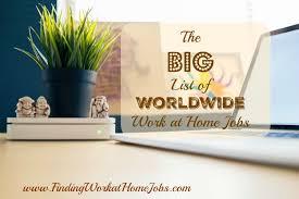 at home jobs blog