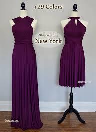 plum wedding dresses plum bridesmaid dresses infinity dress gown convertible