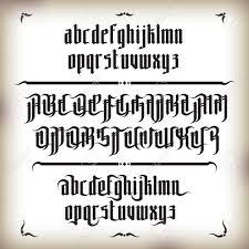 imagenes goticas letras moderno estilo de fuente gótica letras góticas con elementos de