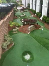 Backyard Golf Course by Golf Anyone Custom 5 Hole Synthetic Putting Green In Your Own