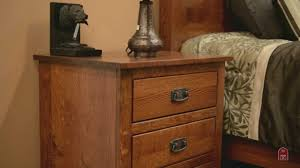 Amish Made Bedroom Furniture by Barn Furniture Amish Mavis Mission Bedroom Set Youtube