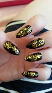 black and gold wedding nail art nail art by ellie louise