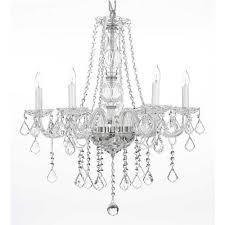 harrison lane 5 light crystal chandelier harrison lane empress crystal 5 light clear chandelier t22 1687