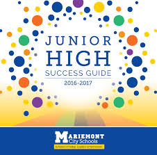 junior high success guide 2016 2017 by mariemont city