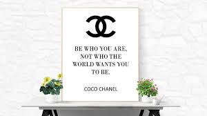 coco chanel quote desk accessory chanel party favors fashion zoom