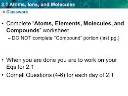 2 1 atoms ions and molecules sponge set up cornell notes on pg