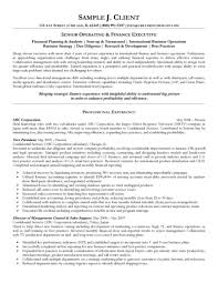 cover letter sample senior executive resume senior account