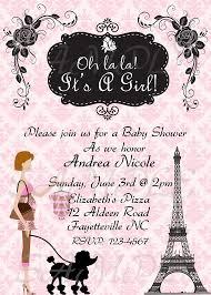 parisian baby shower baby shower invitations theruntime