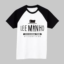 fan made t shirts korean star lee minho short sleeve t shirt lee min ho fan made tee