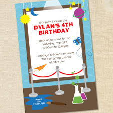 sweet wishes children u0027s museum science birthday party invitations