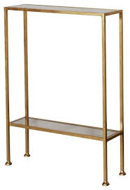 Skinny End Table Worlds Away Porter Gold Leaf Narrow Side Table Contemporary Narrow