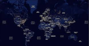 Light Polution Map Google Maps Mashup Of Global Light Pollution Price Tags